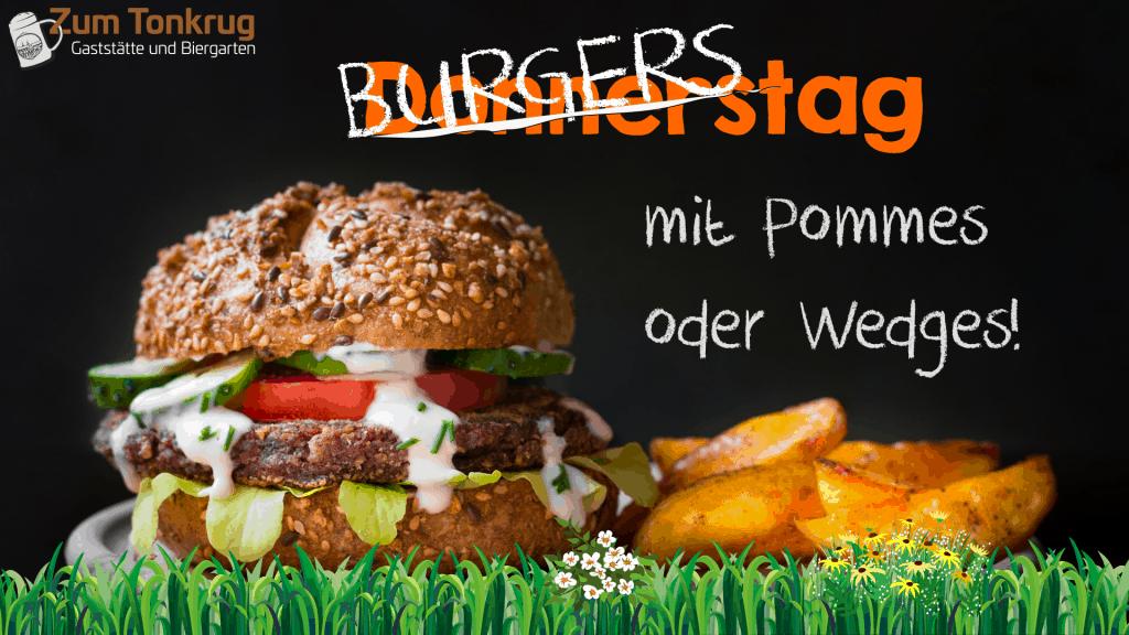 Hamburger mit Wedges