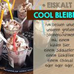 Eiskaffee im Biergarten